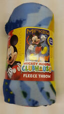 "DISNEY MICKEY MOUSE CLUBHOUSE KID 46"" X 60"" FLEECE THROW BLANKET SLEEP L@@K"