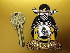 HONDA CAFE RACER Pudding basin MOTORCYCLE BIKE STICKER