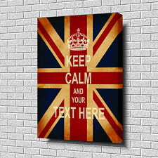 "*KEEP CALM and YOUR TEXT* Top Quality Box Canvas 20""x30""24 HOUR POST £34.99"