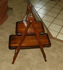 Mahogany 2 Tier Collapsable Pie or Muffin Table  (SH31)