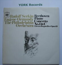 72430 - BEETHOVEN - Piano Concerto No 1 SERKIN / ORMANDY - Ex Con LP Record