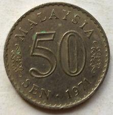 Malaysia 50 sen 1971 coin
