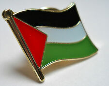 Palestine Flag Lapel Pin Badge Superior High Quality Gloss Enamel (علم فلسطين‎‎)