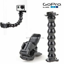 NEW Accessories Jaws Flex Clamp Mount+ Adjustable Neck for Gopro Hero 4 3+ 3 2 1