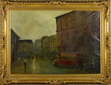 Anton Rudolf Mauve (Dutch 1876-1962) London Street Scene Oil on Canvas Signed