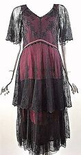 GATSBY style dress Nataya RED/Burgundy Black Formal Steampunk Vintage style S