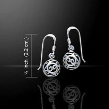 Hollow Celtic Ball .925 Sterling Silver Earrings by Peter Stone