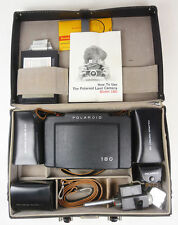 Vintage Nr COMPLETE POLAROID 180 LAND CAMERA kit case portrait closeup 665 195