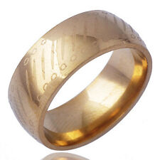 New arrival Mens promise love Band Ring Yellow gold plated Size 9#