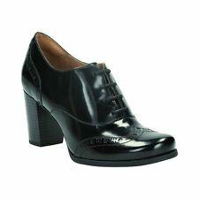 Clarks Ladies Ciera Brine Black Leather Smart  Shoes Size UK 4.5/37.5