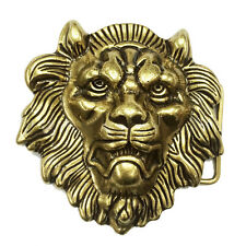 Western Cowboy Zinc Alloy Stereo Lion Head Belt Buckle Mens Retro Classic