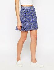 BNWT Vero Moda Mini Skirt In Animal Print XS 8 Blue