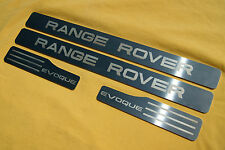 RANGE ROVER EVOQUE DOOR SILL TREAD PLATES FULL SET OF 4