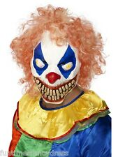 Halloween Evil Clown Circus of Death Horror Latex With Hair IT Mask Fancy Dress