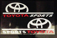 ☆New☆ A Pair Amazing Rearview Mirror Car stickers Decals For Toyota (White)