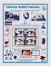 GB STAMPS MNH 1982.A4 app DESIGN SHEET CHARLES R.DARWIN FREE GIFTS (33)