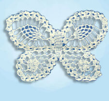 1930s Laura Wheeler Embroidery Transfer 779 Floral Pcases w Butterfly Crochet