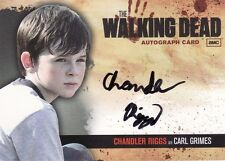 Walking Dead Season 1 Chandler Riggs as Carl Grimes A8 Auto Card