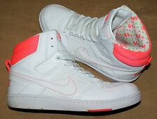 Nike Delta Lite Size 6 UK Womens Hi Top Trainer Boots White Leather