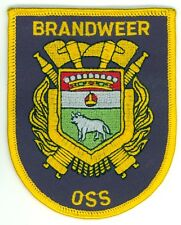 Vintage Oss Brandweer Fire Department Uniform Patch Netherlands Dutch