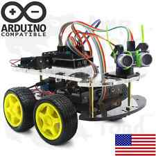 4WD Arduino Smart Car Robot Learning Starter Kit - Smart Programmable Robot DIY