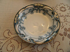 """Flow Blue Green Royal Staffordshire China Iris 6"""" Cereal Bowl 3-3"""