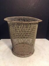 Arts & Crafts Mission Industrial Metal Wastebasket Trash Can - Has the Look!!