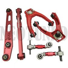 RED 96-00 CIVIC EK EM1 LOWER CONTROL ARM ADJUSTABLE FRONT UPPER REAR CAMBER SET