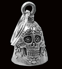 Sugar Skull GUARDIAN BELL  with a velvet pouch