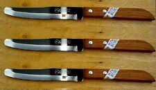 3 x  KIWI Stainless Steel, wood handle Kitchen Knife # 502  100% Brand New