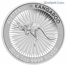 2016 KANGAROO PURE SILVER 1oz Bullion Coin in Downies Pack