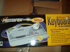 WINDOWS 95 KEYBOARD TS1000 SPILL PROOF DESIGN TURBO KEY CONTROLS PS/2 SERIAL POR