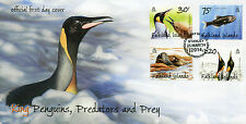 Falkland Islands 2014 FDC King Penguins Predators & Prey 4v Set Cover Birds Seal