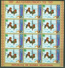 EQUATORIAL GUINEA 1972 OLYMPICS SHEETS OF TWELVE STAMPS EACH  MINT NH