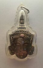 Thai buddhist amulet Pra Lak Head with ruby  Rare LP Galong 2549 BC