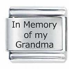 In memoria delle mie Grandma-DAISY da JSC accoppiamenti Classic Taglia Italiana Bracciale con Charm