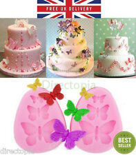 3D Butterfly Bufferflies Flower Silicone Mould, Sugarcraft, Fondant, Chocolate
