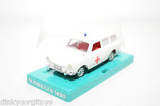 MARKLIN 1809 VW VOLKSWAGEN VARIANT 1600 RED CROSS AMBULANCE VN MINT BOXED