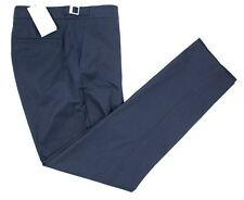 ORLEBAR BROWN Griffon Blue Cotton Flat Front Dress Pants 36 Fits 38 NWT $285!