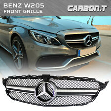2015+ SILVER Front Grille Grill For Mercedes-Benz C-class W205 C63AMG Style