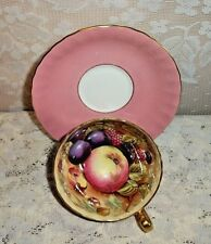 Aynsley England Bone China Pastel Pink Orchard Fruit   # 31 Cup & # 30 Saucer
