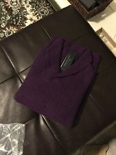 100 cashmere sweater Marc Anthony purple L
