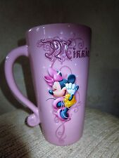 Large Pink Disney Minnie Mouse Coffee Mug 3 D 6 1/2  inches EUC