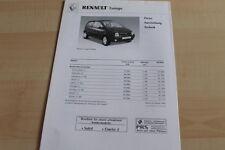 134008) Renault Twingo - Preise & tech. Daten & Ausstattungen - Prospekt 02/2002