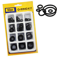 "50Pcs O Ring Set Different Size Plumbing DIY Air Seal Rubber Tap Sink ""O"" Thread"