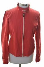 Tommy Hilfiger Womens Harrington Jacket Size 12 Medium Red Cotton Rayon