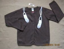 Gymboree Winter Ballerina Shoes Sweater Cardigan Brown Pink Hair L 10-12 NWT New