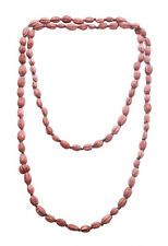 Charismatic Terracotta Red Wooden Beans/ Black Beads Long Necklace(Zx181)