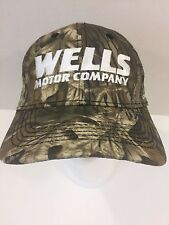 Wells Motor Company Jeep Dodge Chrysler CAMO Baseball Trucker Hat Adjustable