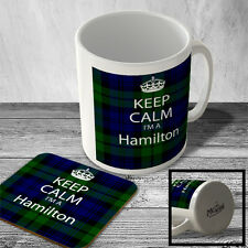 MAC_KC_150 Keep Calm I'm a Hamilton (Tartan, Scottish Clan) - Mug and Coaster se
